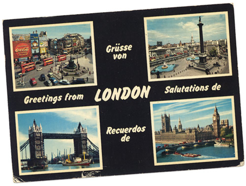 Cartolina 'Greetings from London'