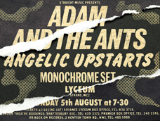Poster Adam & the Ants - Lyceum - 5/8/79