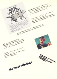 'Animal Discipline' flyer
