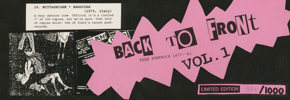 Header 'Back to Front Vol.1'